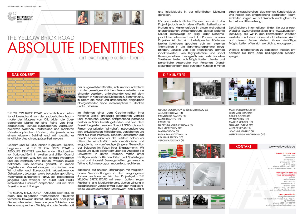 "Folder ""Absolute Identities"", Kunstprojekt"